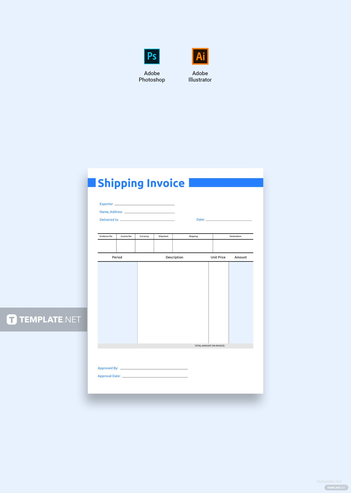 shipping invoice template - Akba.greenw.co