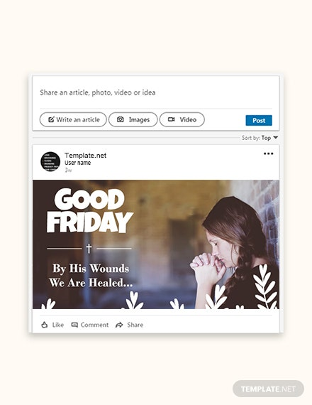 Free Good Friday Linkedin Post Template