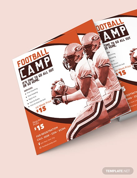 Football Camp Flyer Download