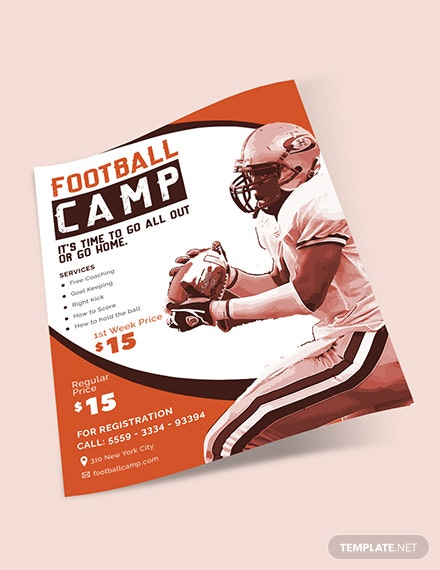 Sample Football Camp Flyer