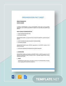 Organization Fact Sheet Template
