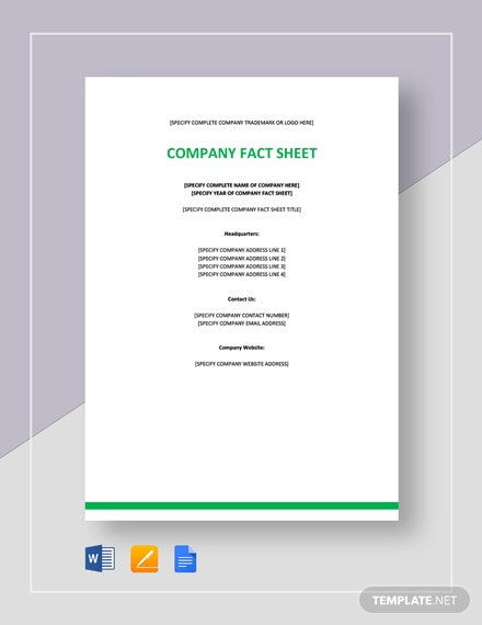 Company Fact Sheet