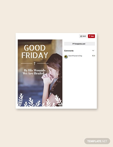 Free Good Friday Pinterest Pin Template