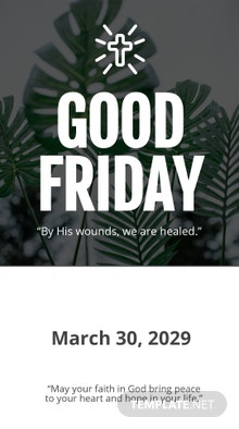 Free Good Friday Snapchat Geofilter Template