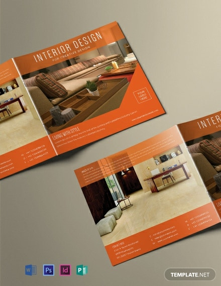 Free Square Interior Magazine Template