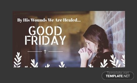 Free Good Friday Twitter Post Template
