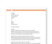 Free Application Letter Format