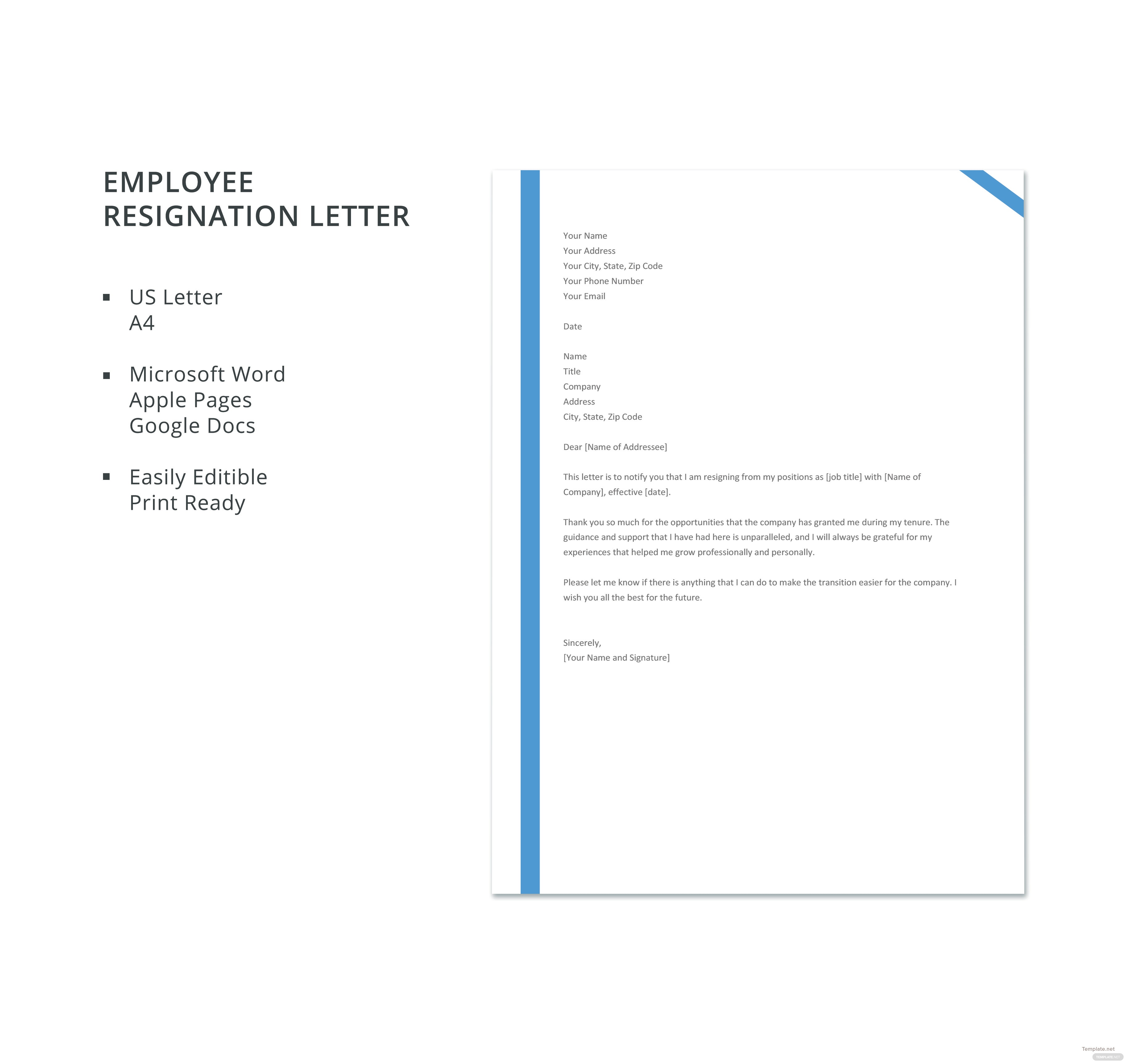 Free employee resignation letter template in microsoft word apple employee resignation letter template spiritdancerdesigns Images