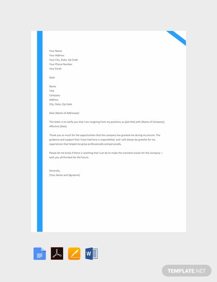 Free-Employee-Resignation-Letter-Template-440x570-1 Mac Resignation Letter Template on free printable company, 2 week notice, for school aide,