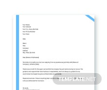 Free Employee Resignation Letter Template