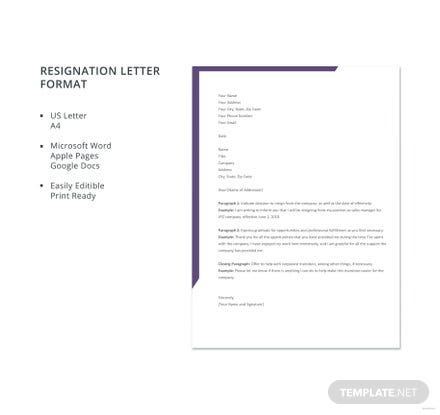 Free resignation letter format free templates free resignation letter format thecheapjerseys Image collections