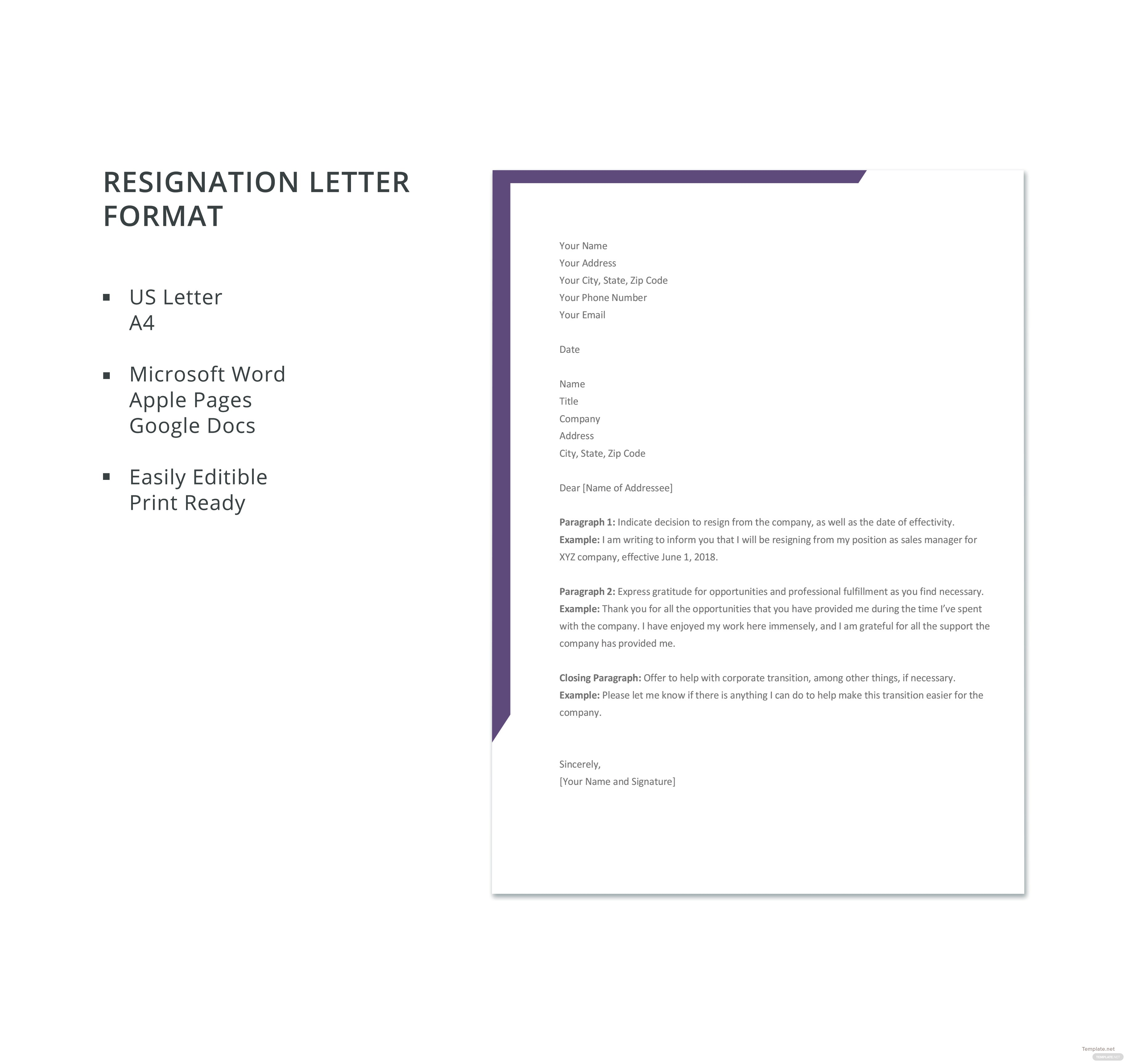 Free resignation letter format in microsoft word apple pages click to see full template resignation letter format spiritdancerdesigns Gallery