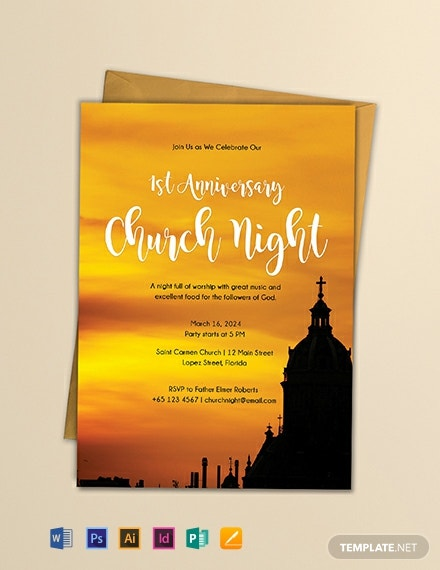 Free Church Invitation Template