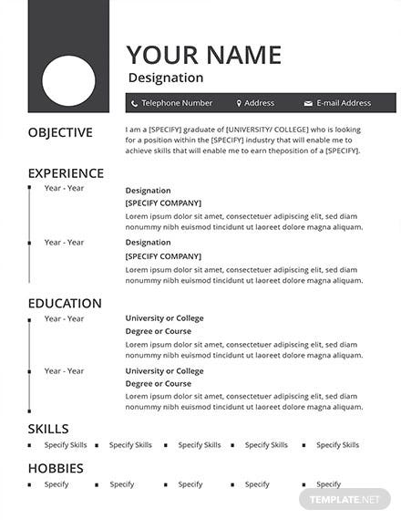 free blank resume and cv template download 160 resume templates in