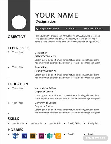 Free Blank Resume Template Word Psd Indesign Apple