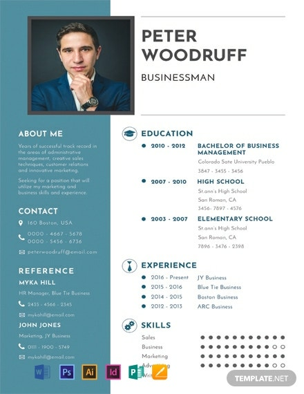 free business resume template  download 2059  resume