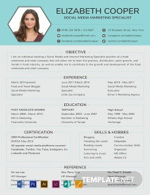 Social Media Specialist Resume Template