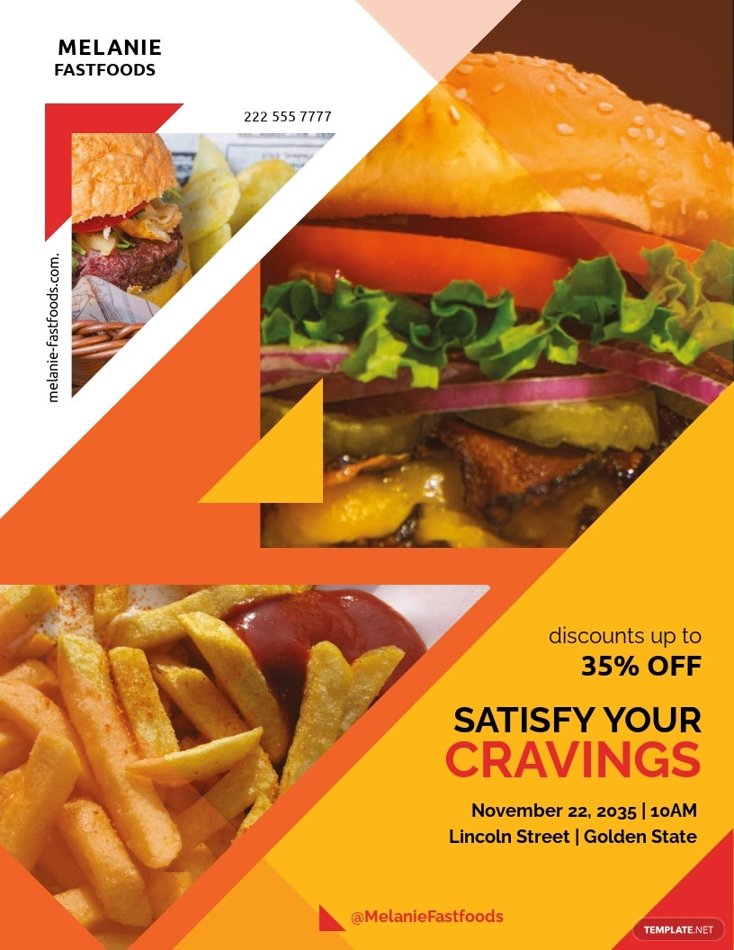 Free Delicious Fast Food Flyer Template.jpe
