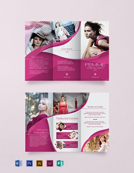 Free Creative Modelling Agency Brochure Template
