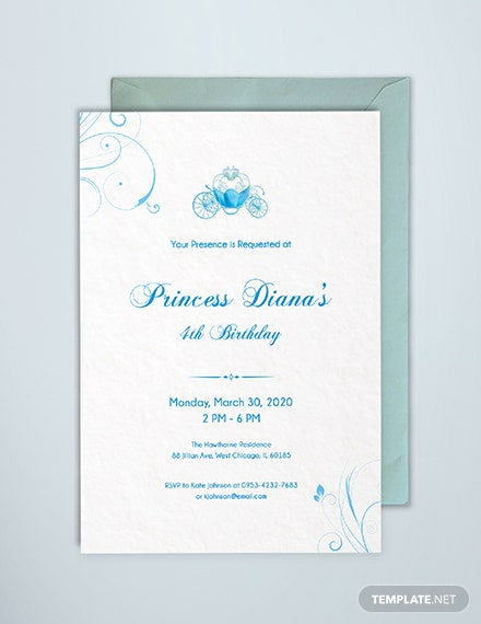 Free Cinderella Invitation Template