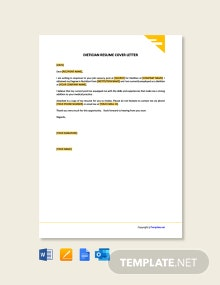 Free Dietitian Resume Cover Letter Template