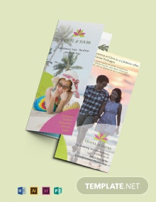 Free Travel and Tour Brochure Template