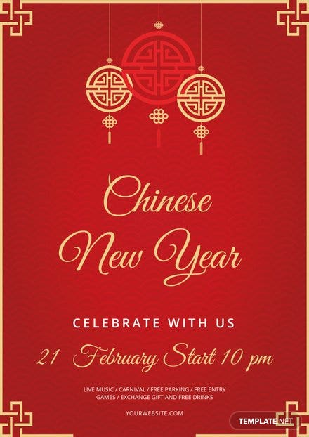Free Chinese New Year Flyer Template