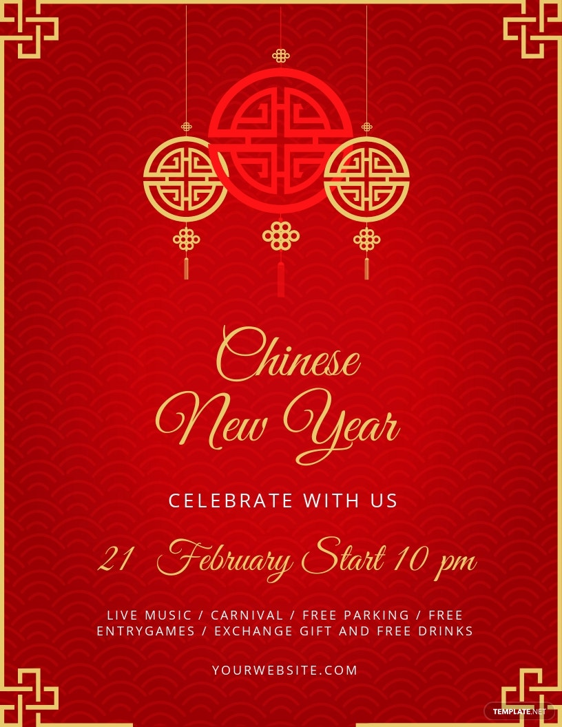 Free Chinese New Year Flyer Template.jpe