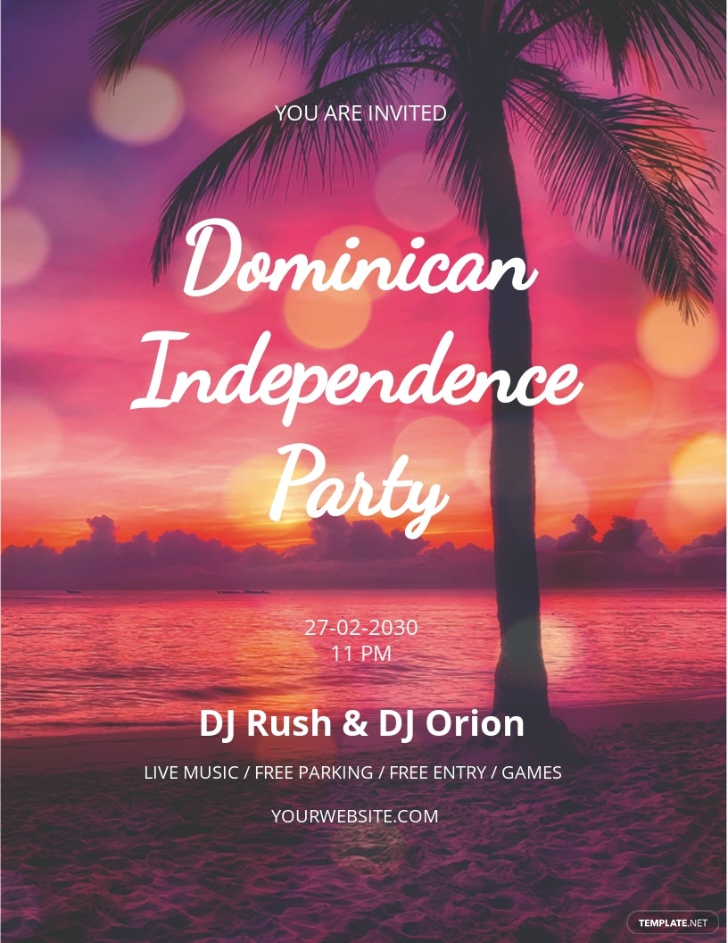 Dominican Independence Party Flyer Template
