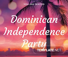 Free Dominican Independence Party Flyer Template