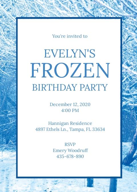 Free Frozen Invitation Template.jpe