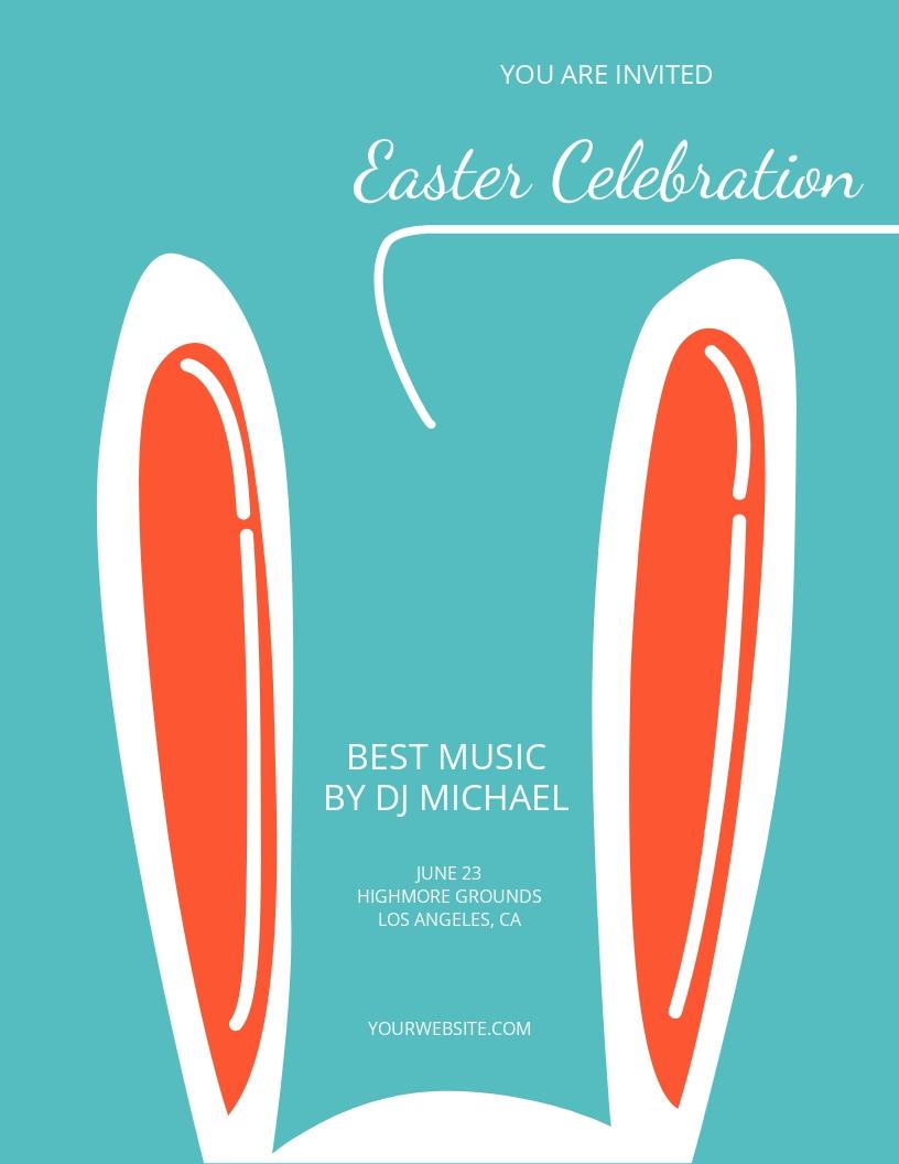 Easter Celebration Flyer Template.jpe