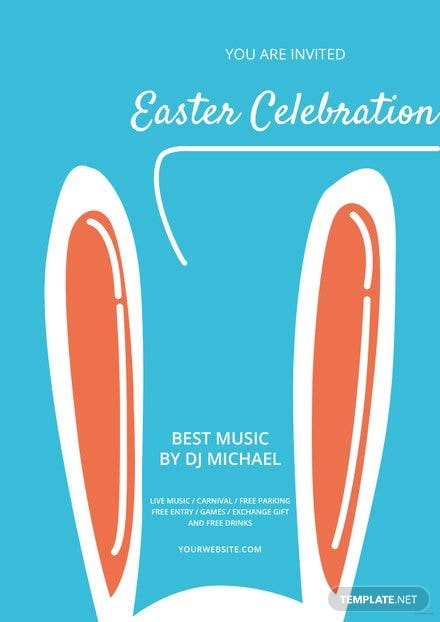 Free Easter Celebration Flyer Template