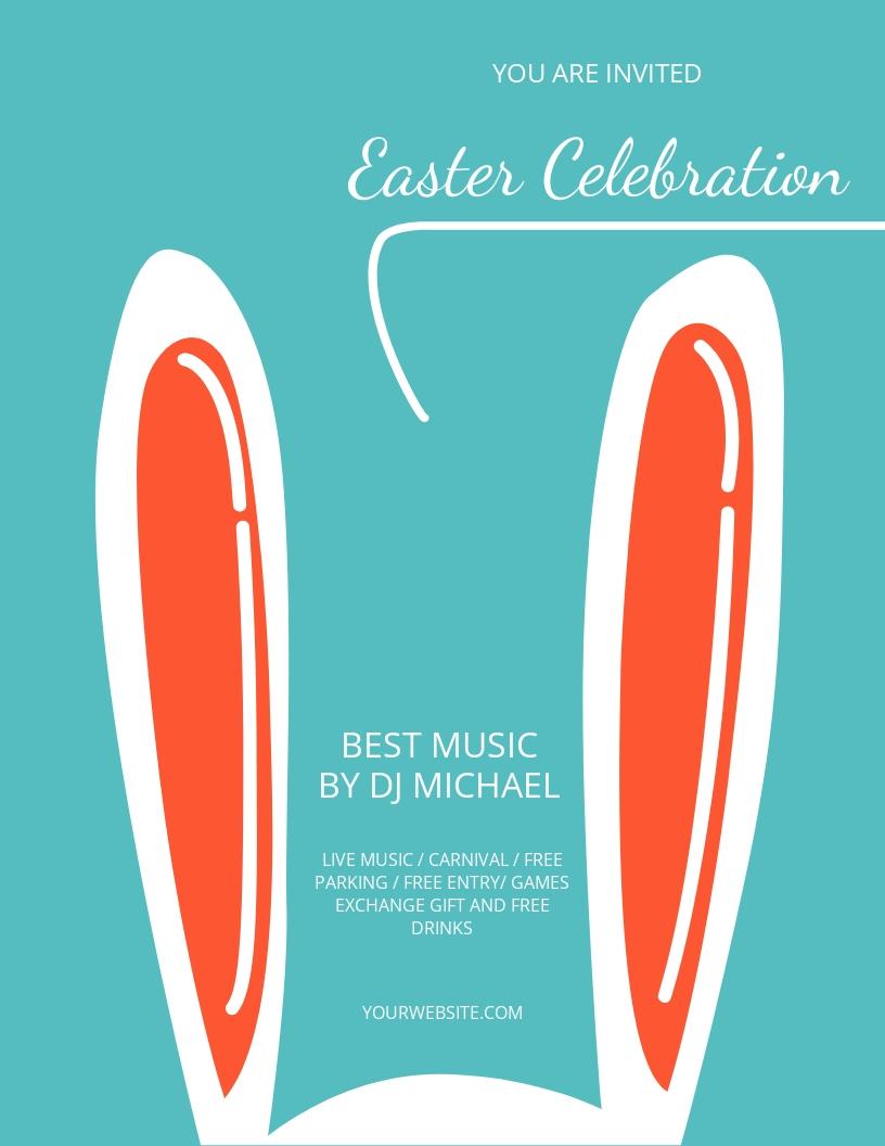 Free Easter Celebration Flyer Template.jpe