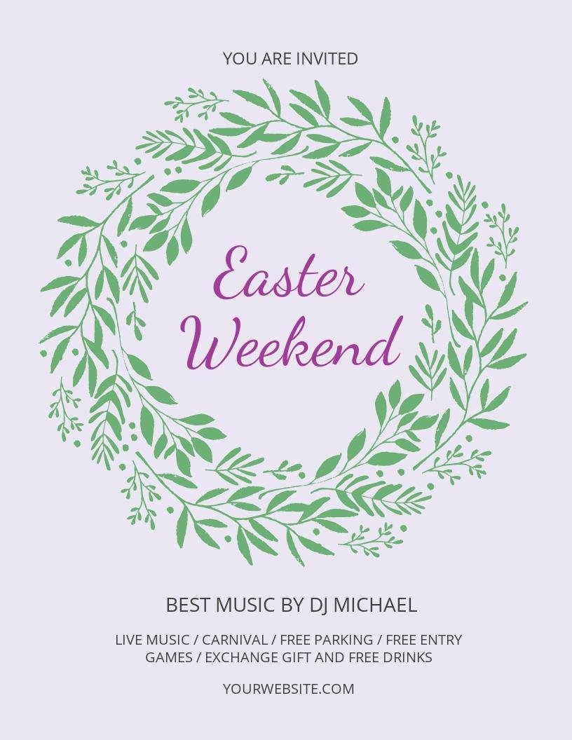 Free Easter Weekend Flyer Template.jpe
