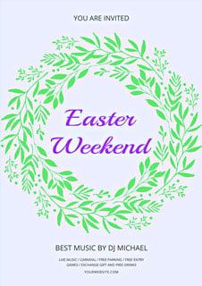 Free Easter Weekend Flyer Template