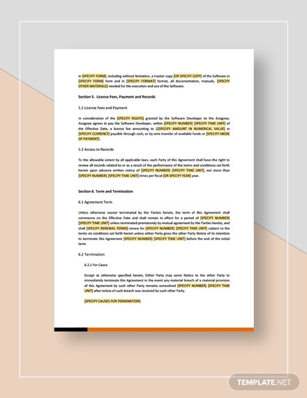 Assignment of All Rights in Computer Software Download