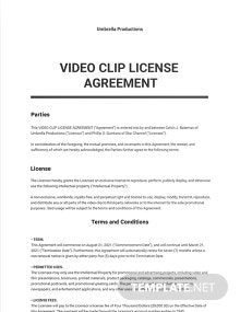 Video Clip License Agreement Template