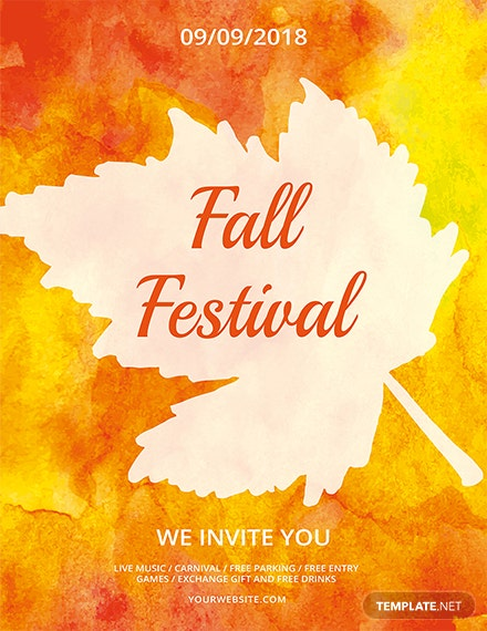 fall festival flyer template 1x