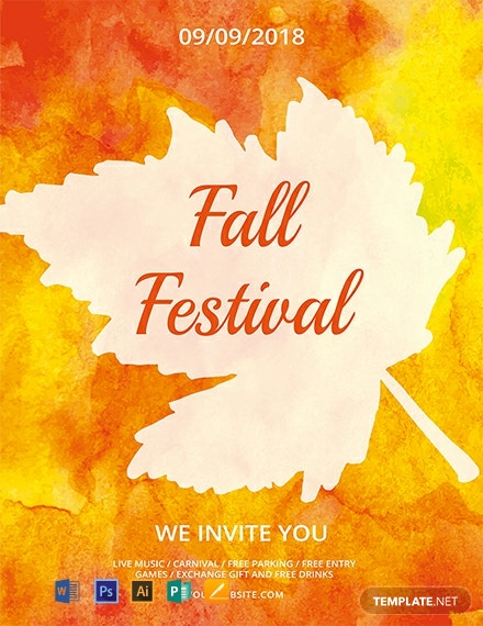 the best free printable fall festival flyer templates
