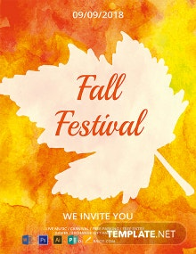 Free Fall Festival Flyer Template