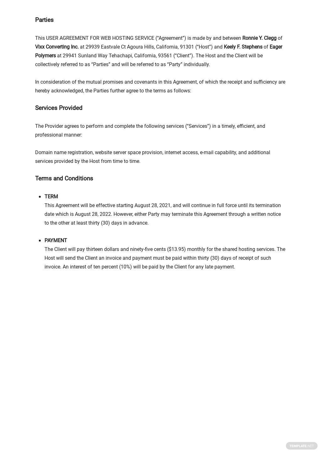 User Agreement for Web Hosting Service Template 1.jpe