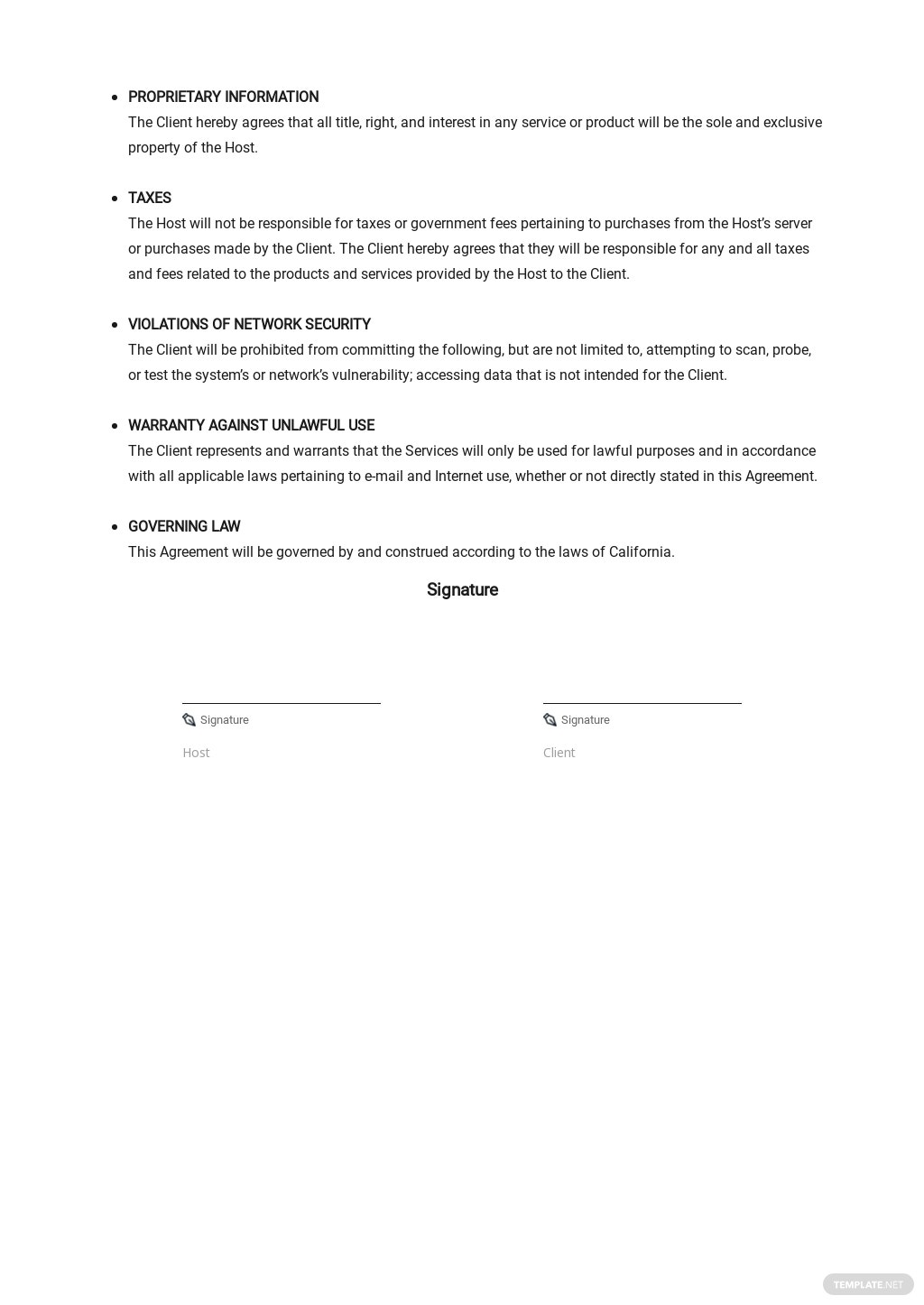 User Agreement for Web Hosting Service Template 2.jpe