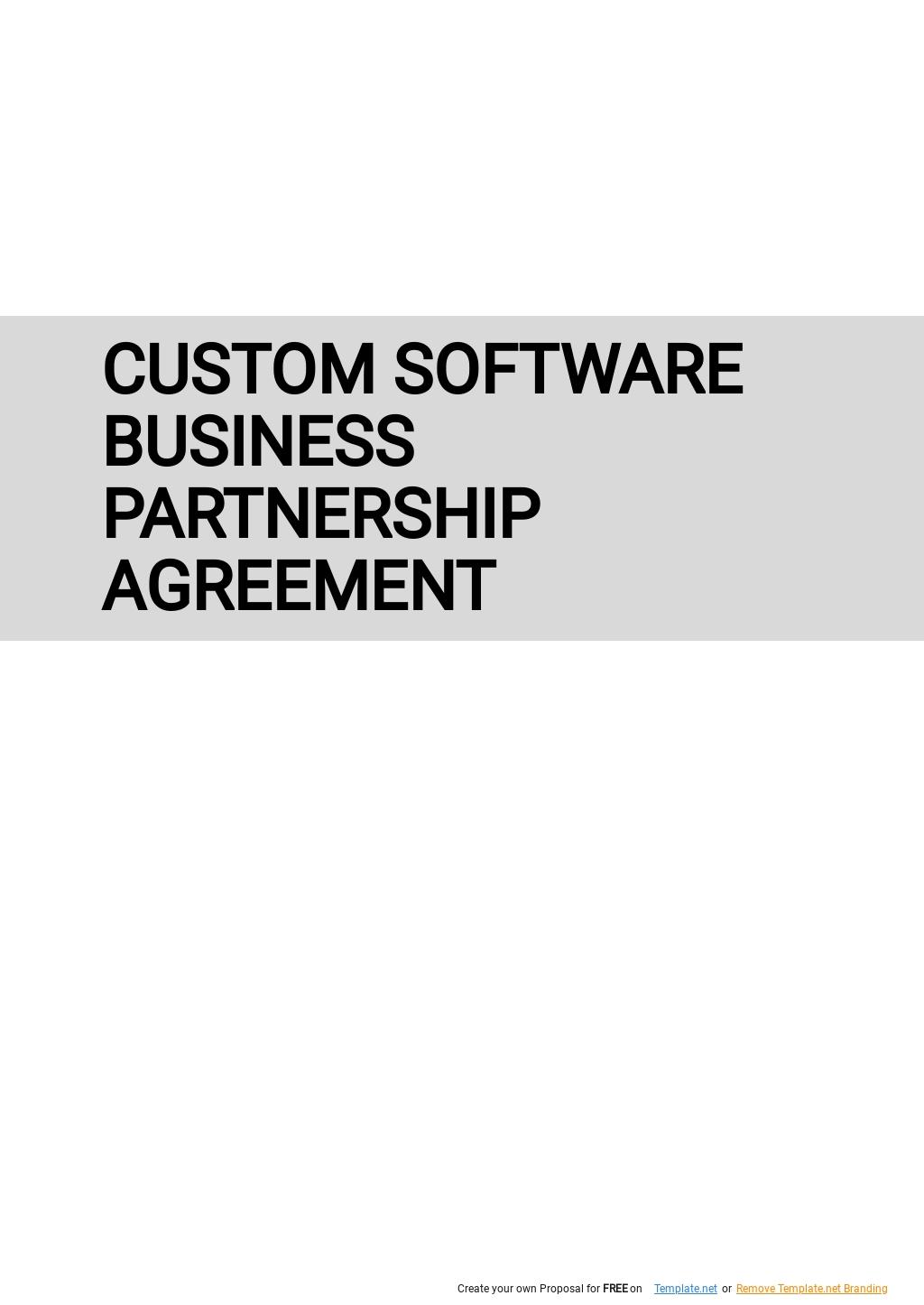 Custom Software Business Partnership Agreement Template.jpe