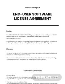 End-User Software License Agreement Template