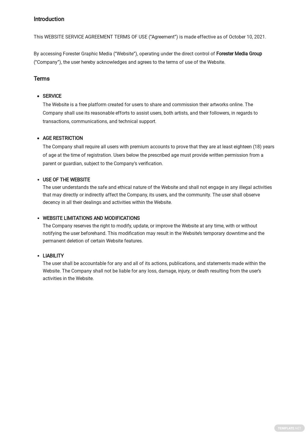 Website Service Agreement Terms of Use Template 1.jpe