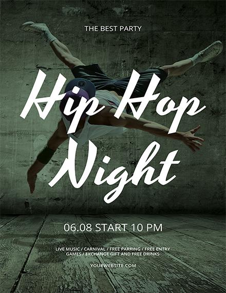 Free Hip Hop Flyer Template