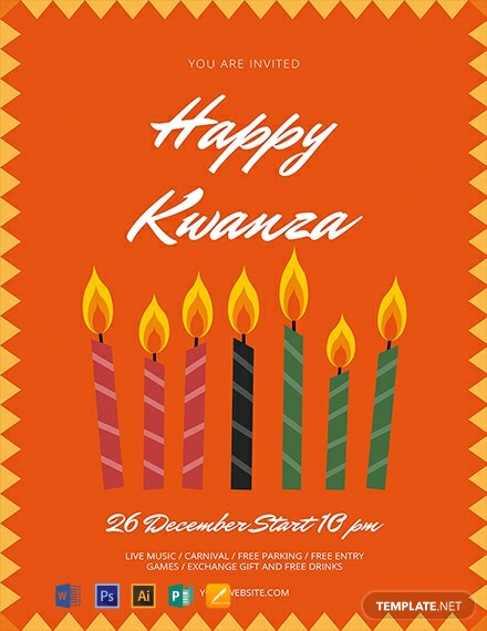 Free Kwanzaa Flyer Template