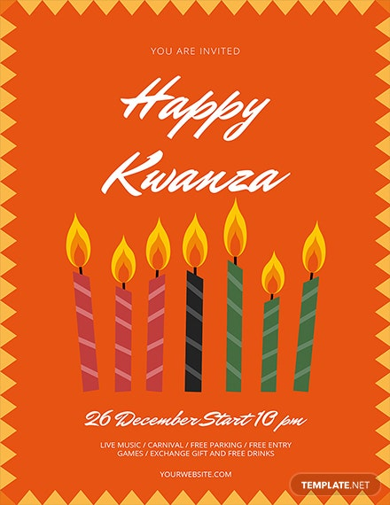Free Kwanzaa Flyer Template