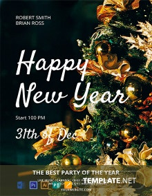 Free Happy New Year Party Flyer Template